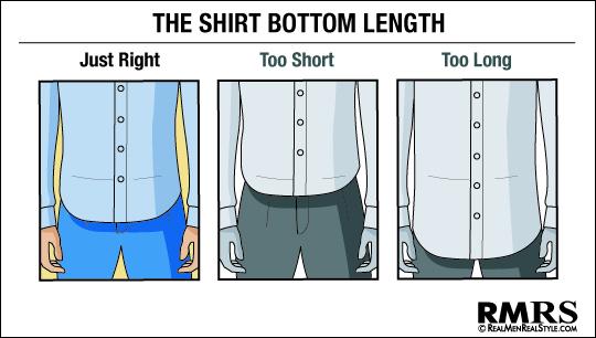 Как должна сидеть рубашка на мужчине