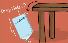 Drop notes jot notes