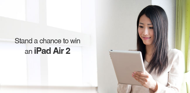 Stand a chance to win an iPad Air 2