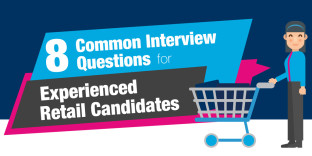 8 common interview questions for experienced retail candidates (infographic)