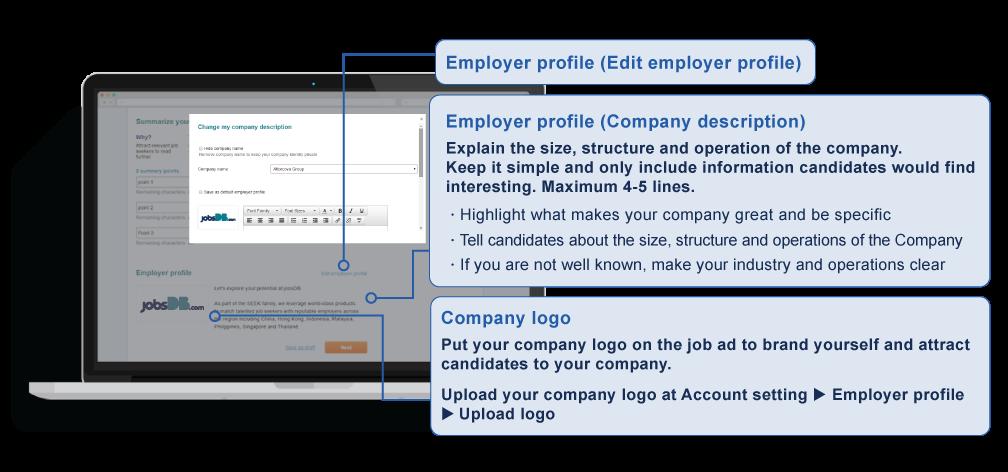 Employer profile example