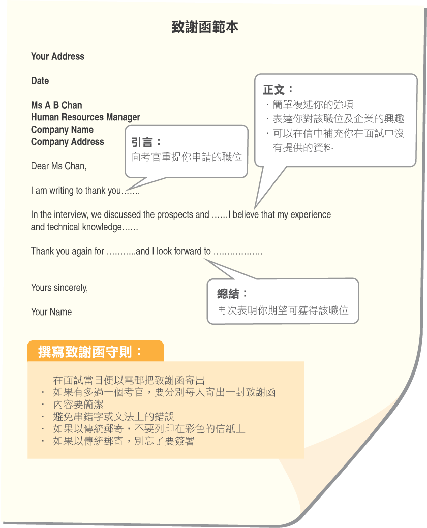 thankyou letter example