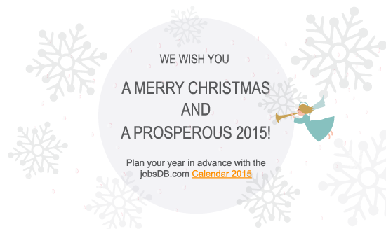 We wish you a merry christmas and a prosperous 2015!