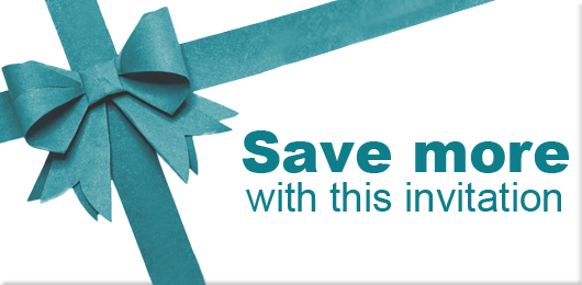 Save more with this invitation