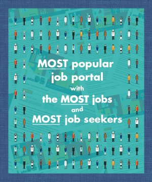 Most popular job portal with the most jobs and most job seekers
