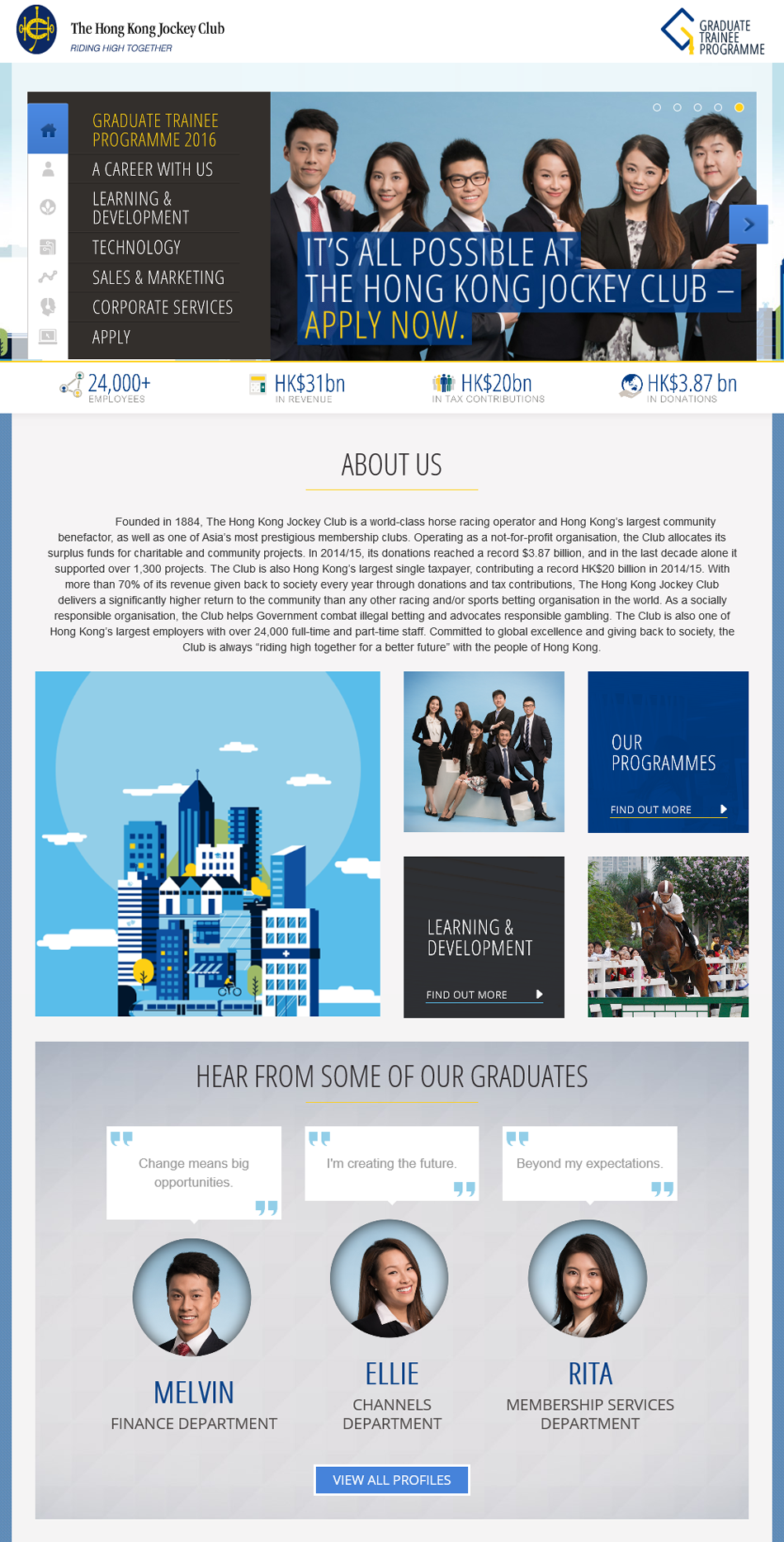 It's all possible at the Hong Kong Jockey Club - Apply Now