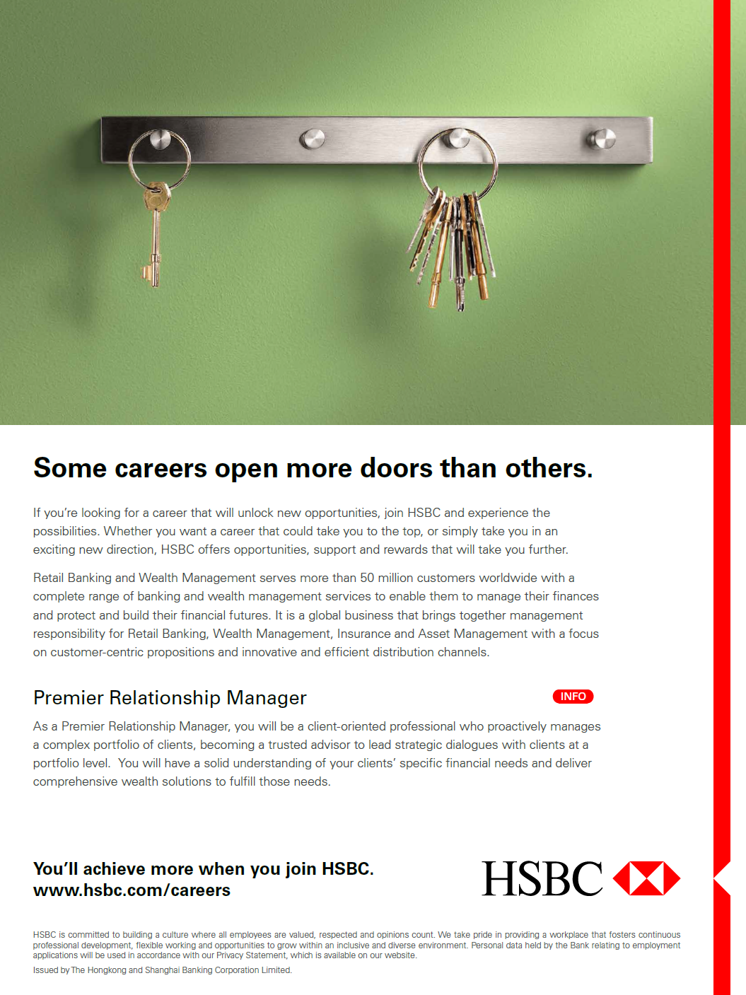 Premier Relationship Manager offered by HSBC