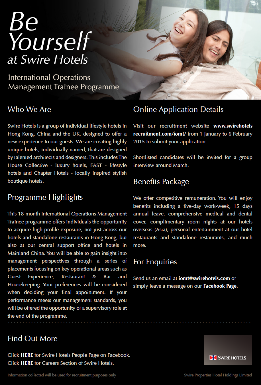 International Operations Management Trainee Programme