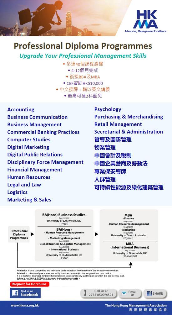 Professional Diploma Programmes