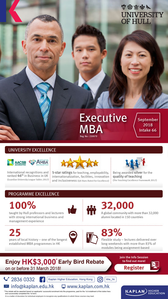 Executive MBA offered by University of Hull