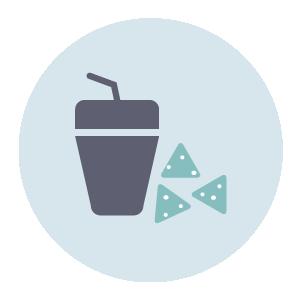 Free snacks / beverage / fruits