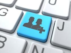 Add User Button-Social Media Concept
