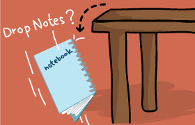 Drop notes jot notes