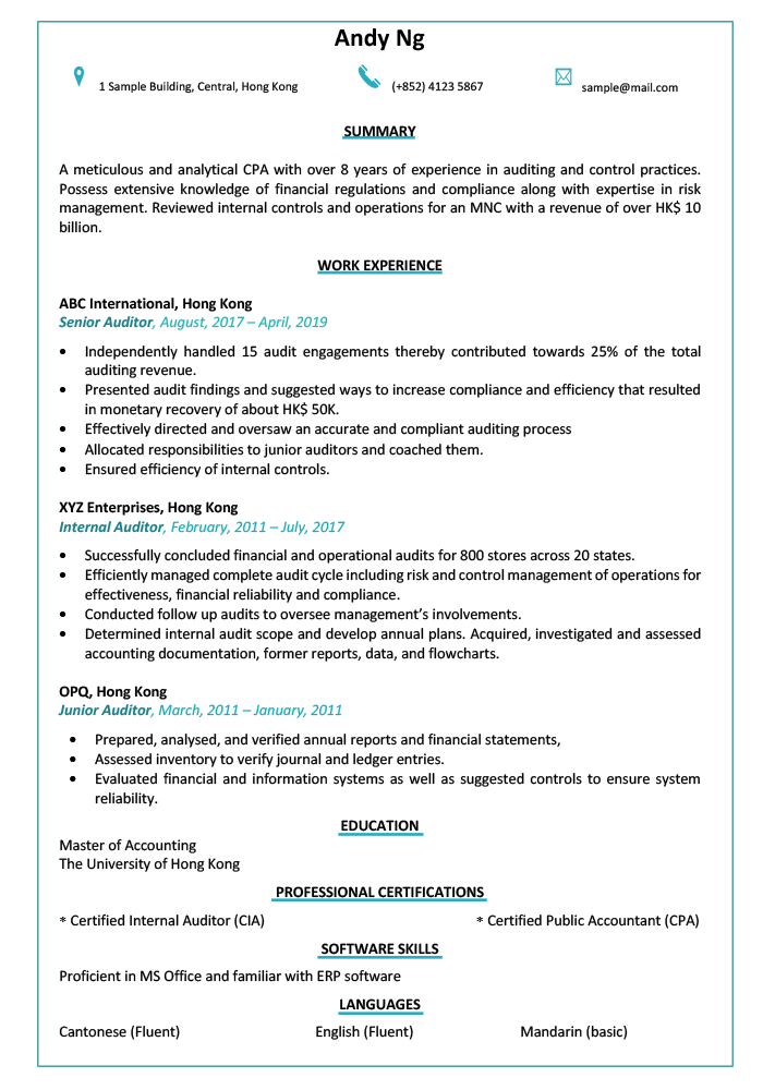 CV-sample-resume-auditor