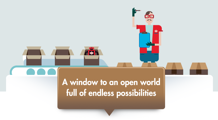 A window to an open world full of endless possibilities