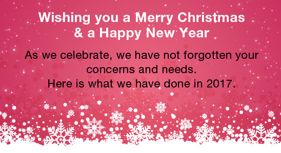Wishing you a Merry Christmas & a Happy New Year