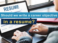 How to write a career objective in a resume?