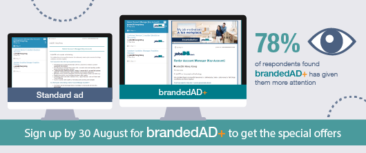 Sign up by 30 August for brandedAD+ to get the special offers