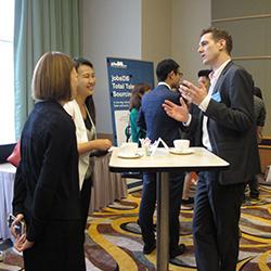 Mr Martin Hayden with clients