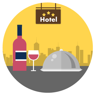Hospitality / F&B:70%