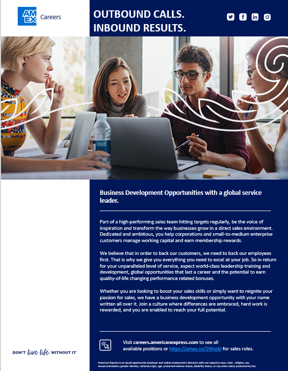 Business Development Opportunities with a Global Service Leader