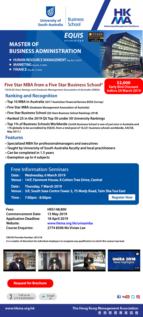 MBA in HRM/Marketing – Five-Star & Top 10 MBA in Australia
